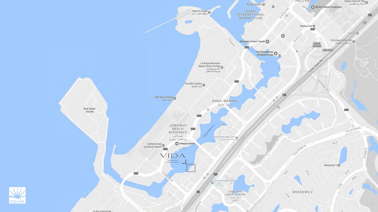 مارينا-فيدا-رزيدنس خريطة الموقع