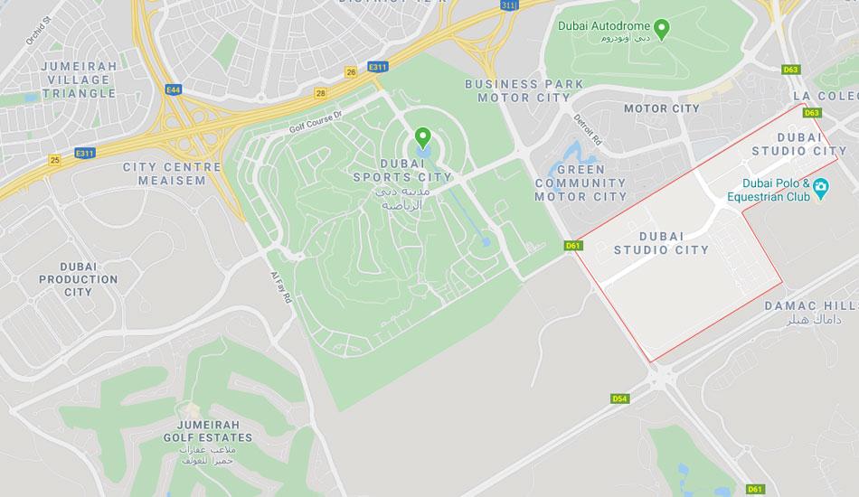 لايا-هايتس خريطة الموقع