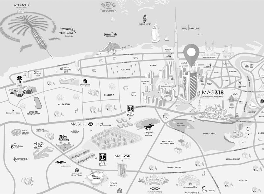 ماج-318 خريطة الموقع