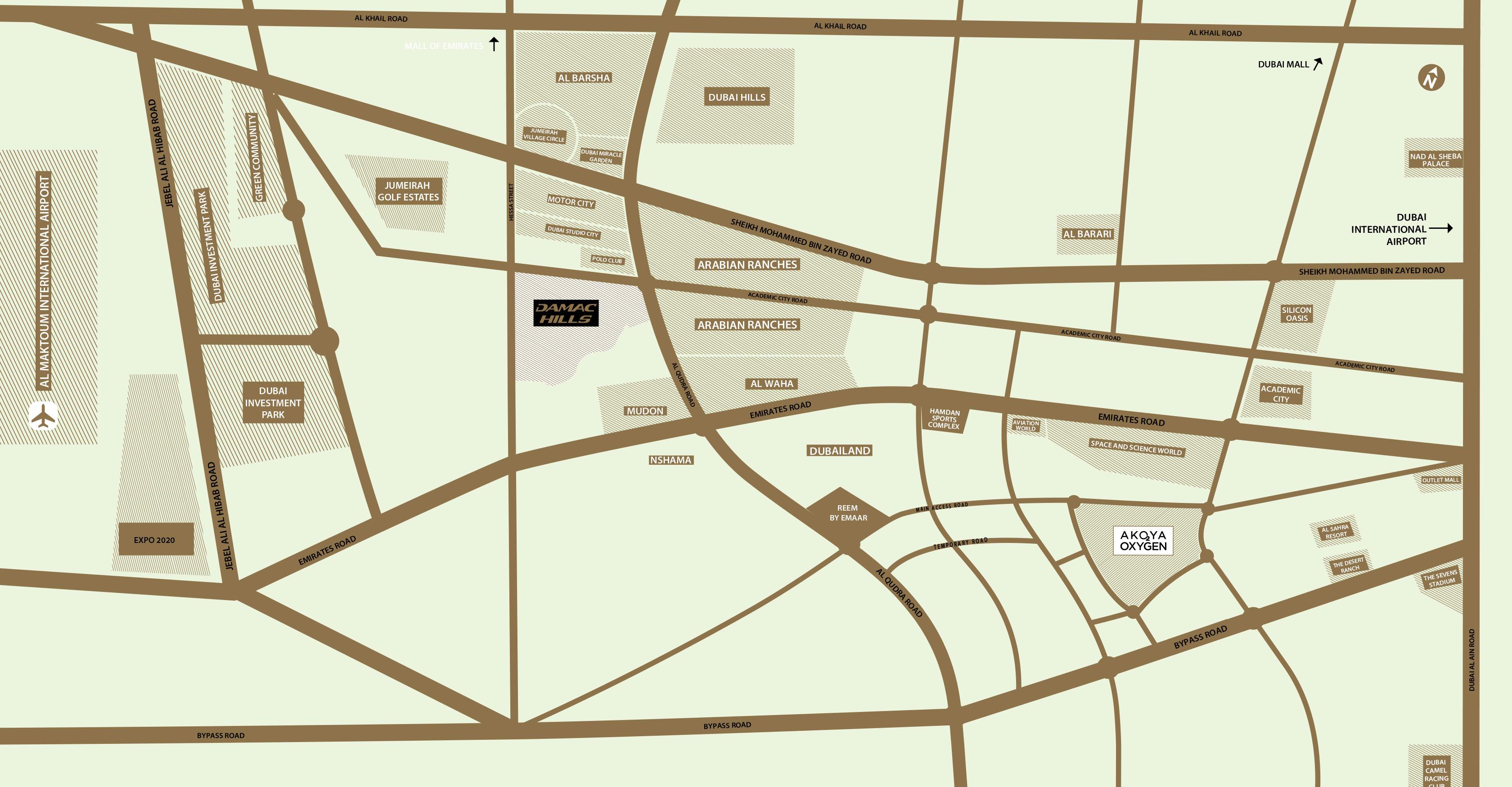 جرين-ايكرز خريطة الموقع