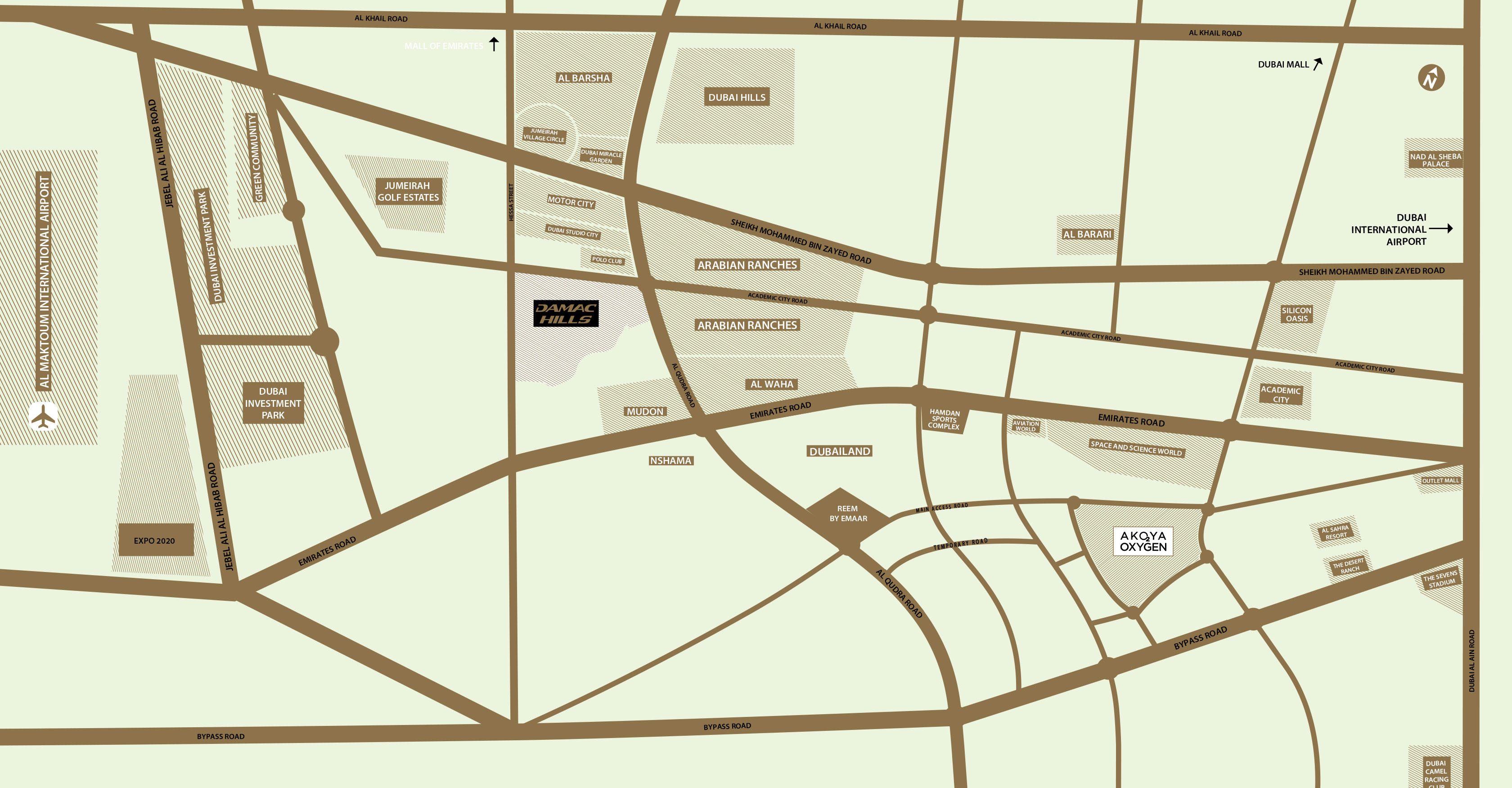 جرين-إيكرز-3 خريطة الموقع