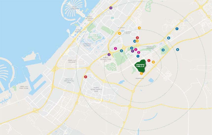 ميلروز-إستيت خريطة الموقع