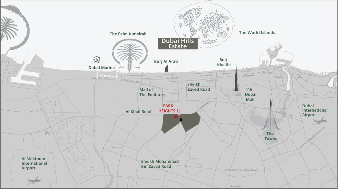 بارك-هايتس-2 خريطة الموقع